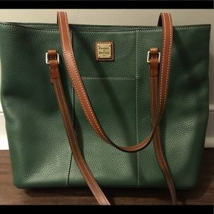 Dooney & Burke Green Leather Tote